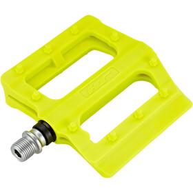 HT PA12 Nano Vlakke Pedalen, neon yellow